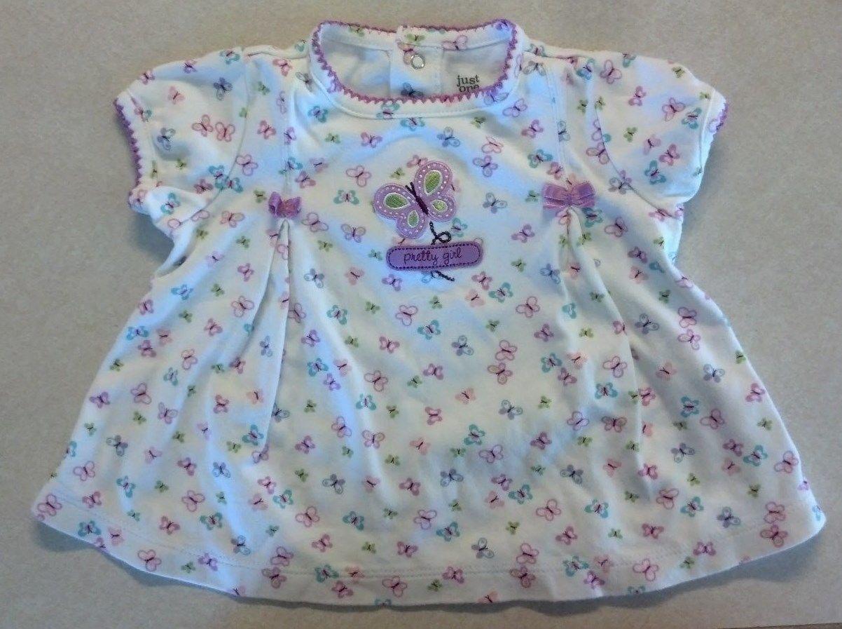 Girl's Sz 6 M Month 3 Pc Dress Set Pretty Girl Butterfly Carter's Dress DC Cap