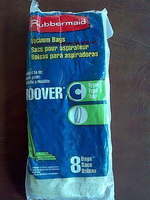 (7) Rubbermaid Hoover Type C Vacuum Cleaner Bags BRAND NEW Opened Package