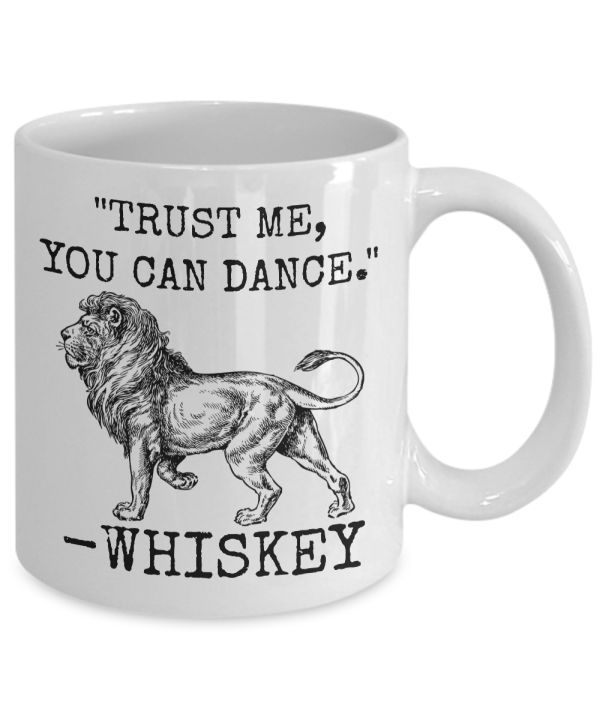 Whiskey Mug 11oz Novelty Ceramic Coffe Tea Cup Funny Gift For Whiskey Drinkers