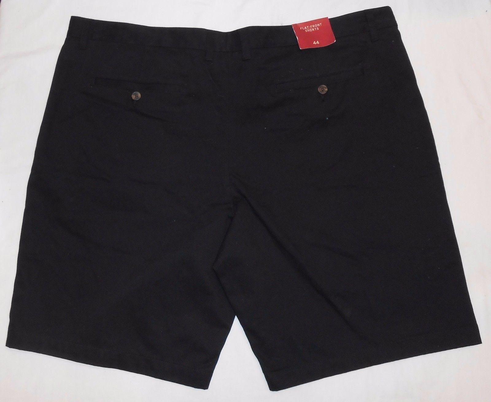 Merona 44 Black NWT Mens New Flat Front Shorts