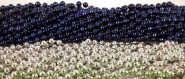 48 Blue Silver Cowboys Mardi Gras Beads Super bowl Tailgate Football Par... - $12.94