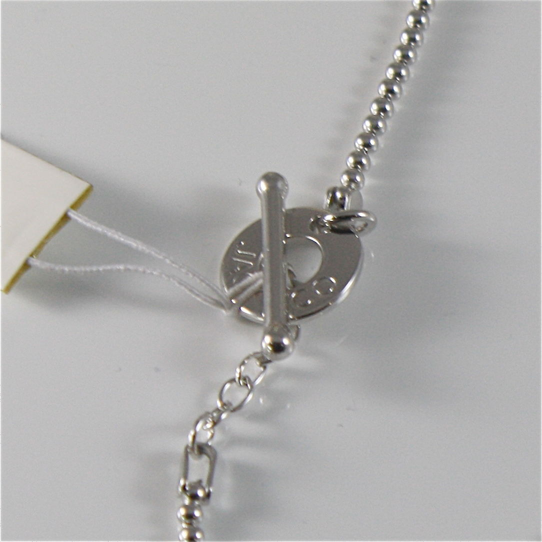 925 RHODIUM SILVER JACK&CO NECKLACE WITH 9KT ROSE GOLD INFINITY  MADE IN ITALY