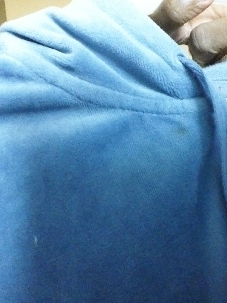 NEW YORK AND Company SPORT blue L LARGE VELOUR HOODIE