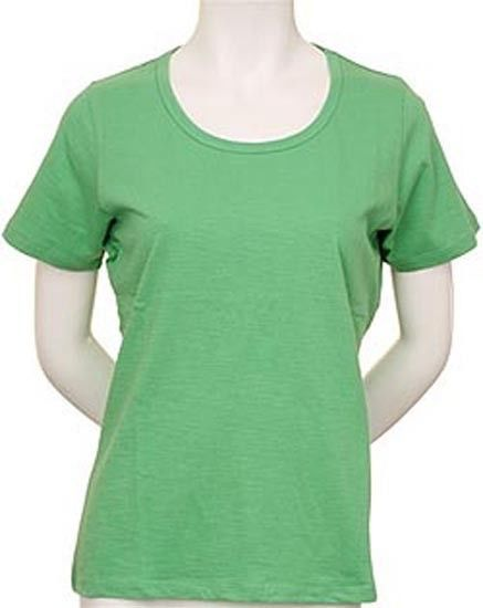 WOMEN'S COTTON CASUAL SHORT SLEEVE ROUND NECK SOLID T-SHIRT