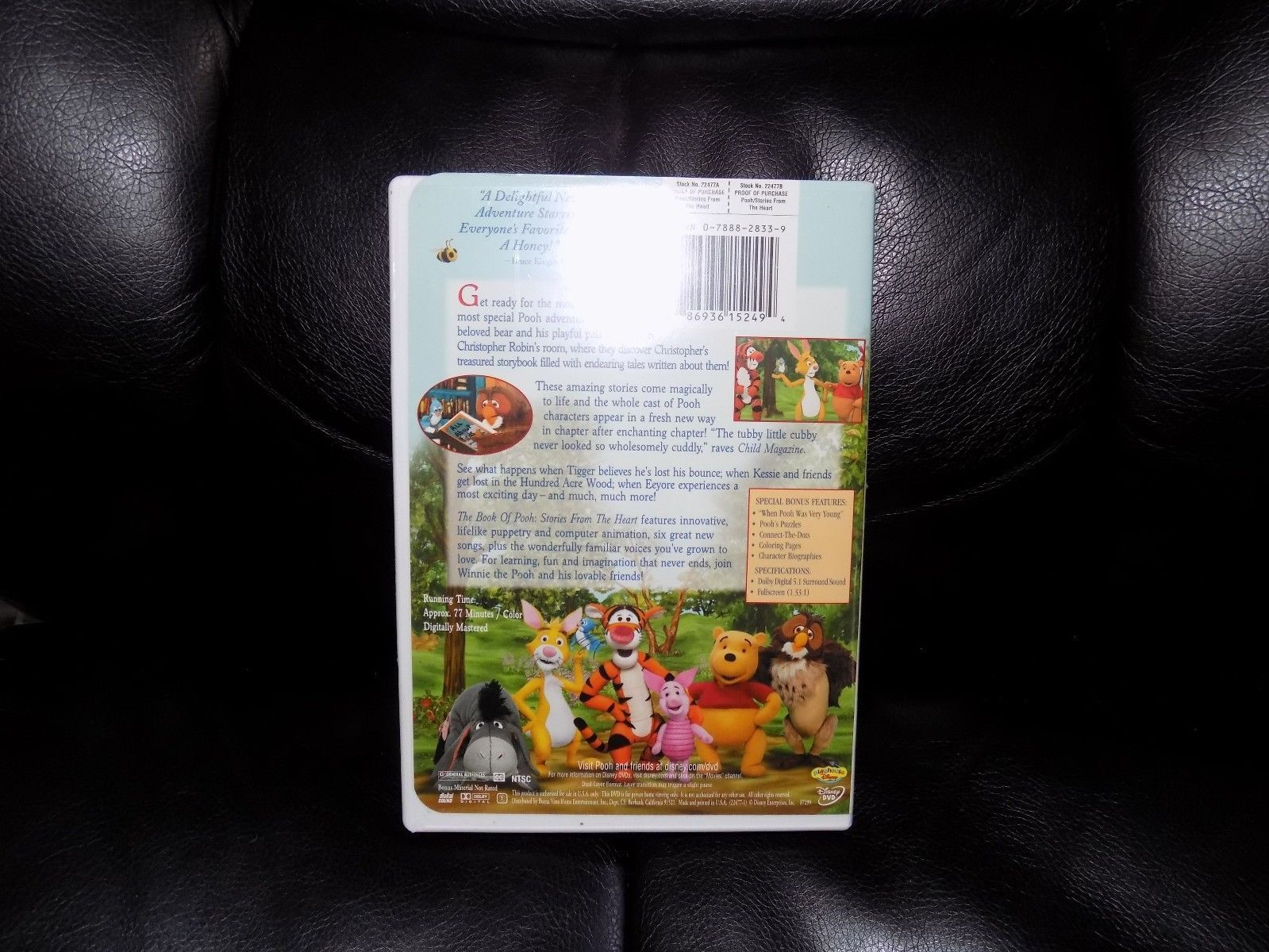 The Book of Pooh: Stories from the Heart (DVD, 2001) EUC