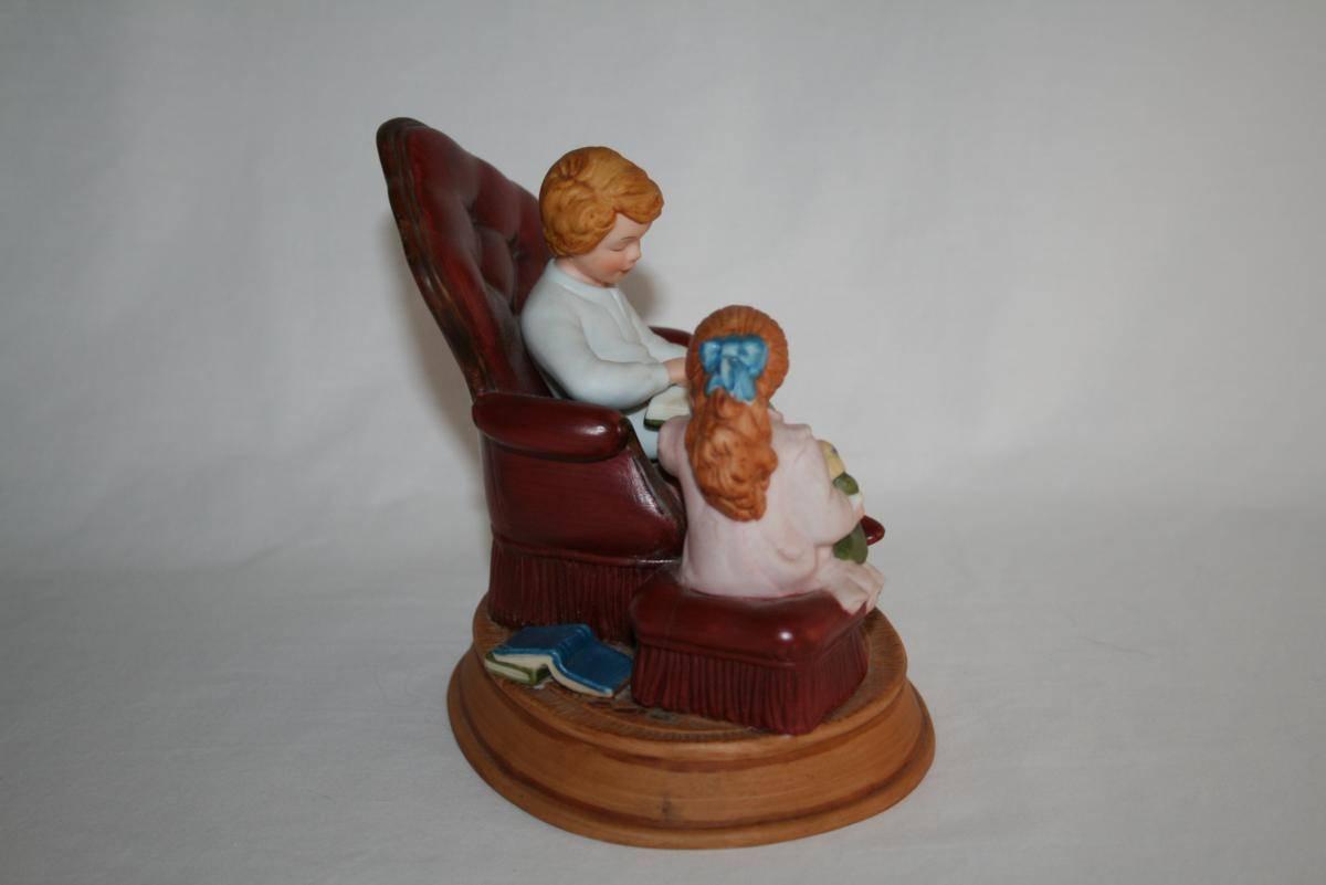 AVON 3rd Edition 1983 Memories Enjoying the Night Before Christmas Figurine 1484