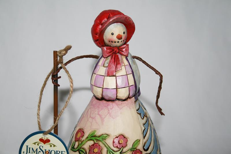 """7"""" Jim Shore 2008 Heartwood 4010361 Not A Flake Out Of Place Snowman Figurine"""