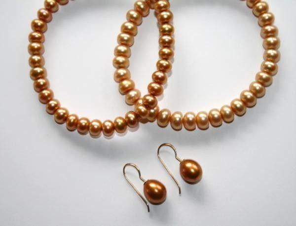 HONORA Golden FW Cultured Pearl 2 Bracelets 14K Earrings NWOT   D9DB