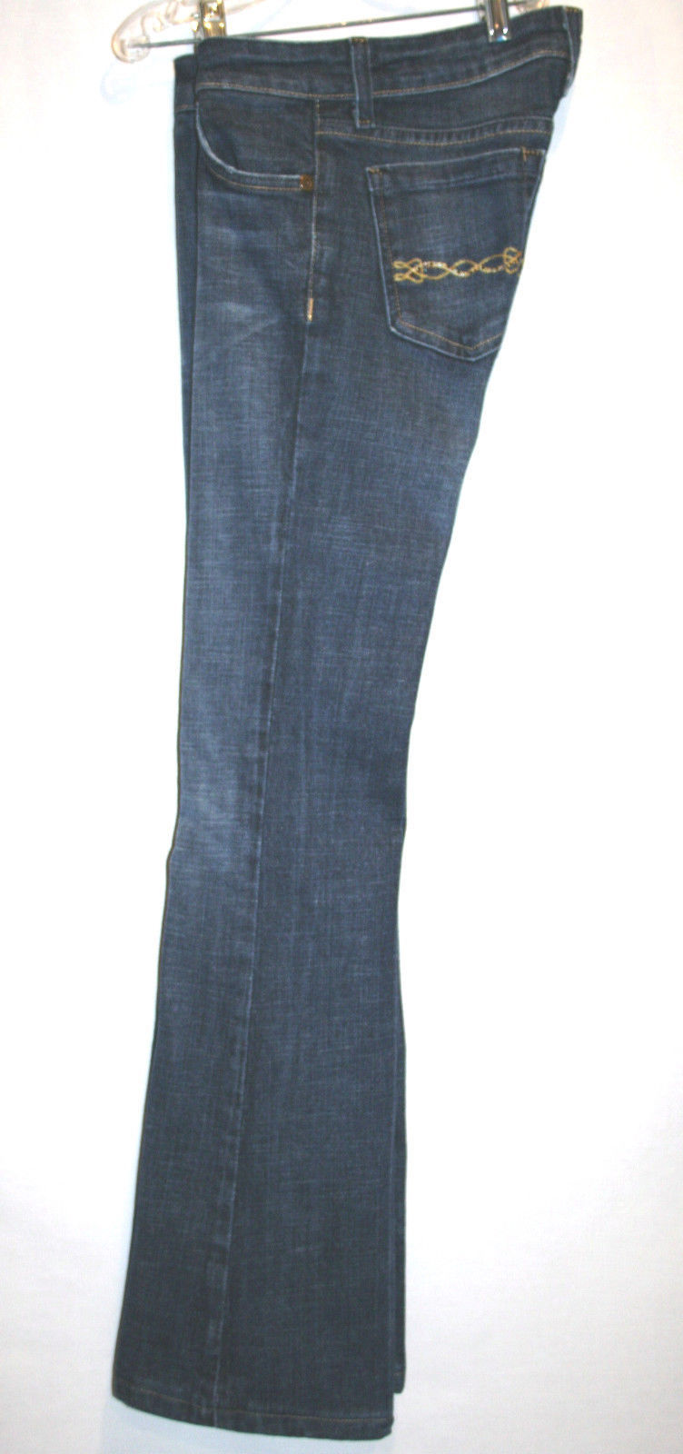 IMMORTALITY Couture Diana Taleshi Low Rise Boot Cut Jeans Size 25  #631