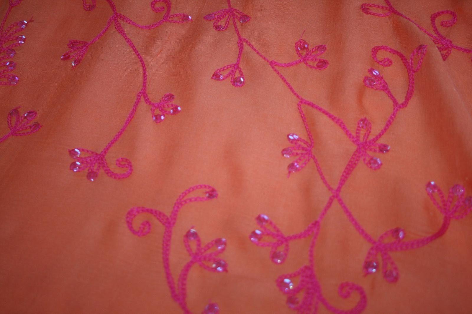 Cool Change Resort Wear Orange / Hot Pink Cover-Up Sarong Scarf Shawl Pareo Wrap