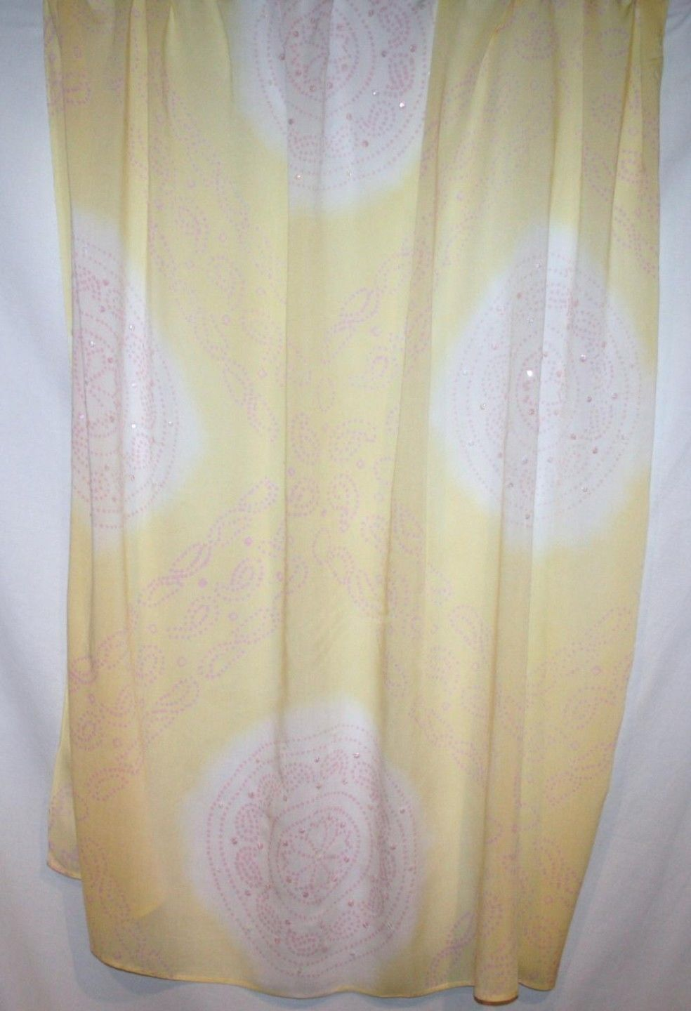 Cool Change Resort Wear Yellow /  Pink Cover-Up Sarong Scarf Shawl Pareo Wrap