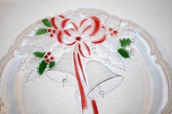 "MIKASA Celebrations Holiday Bells 15"" Tray Platter MIB  #944"
