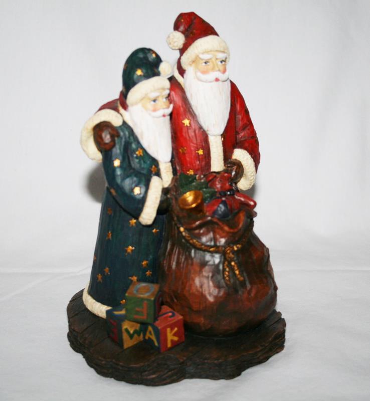 Old Glory Collection 1st Edition Krajewski Merry Moments Santa Figurine #1812