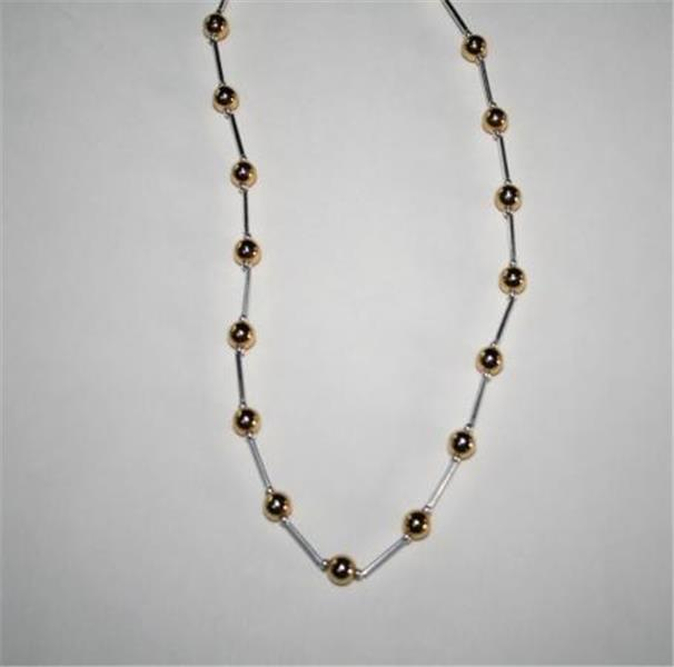 """PREMIER DESIGNS Jewelry Two Toned Signature Necklace 18""""  D62DB"""
