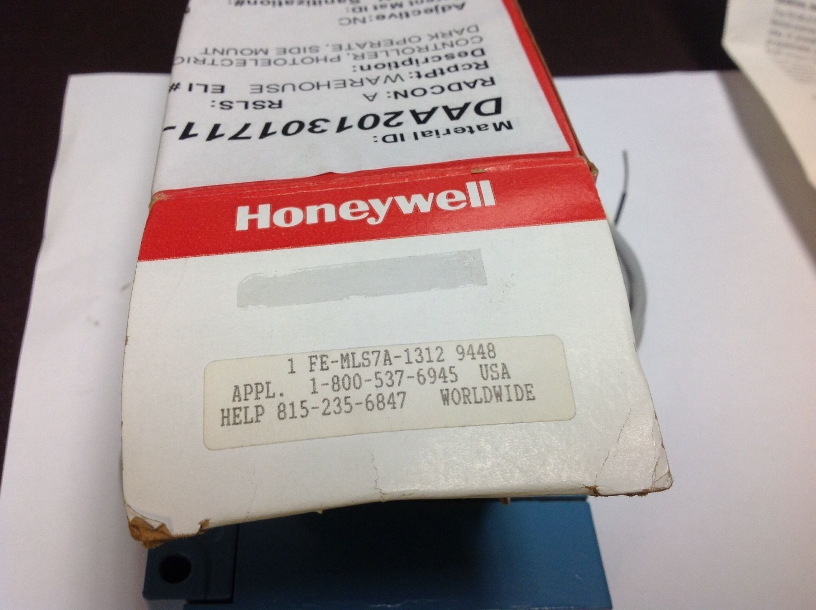 HONEYWELL MICRO SWITCH FE-MLS7A-1312 NIB PHOTOELECTRIC 12VDC SPECS $99