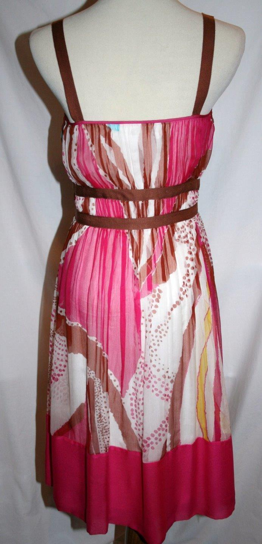 DIANE VON FURSTENBERG Silk DANI Dress Size 2 Hot Pink Multi-Colored  #883