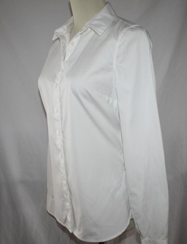 Tommy Hilfiger White Cotton Button Front Shirt Size 4  -NOWT- #2020