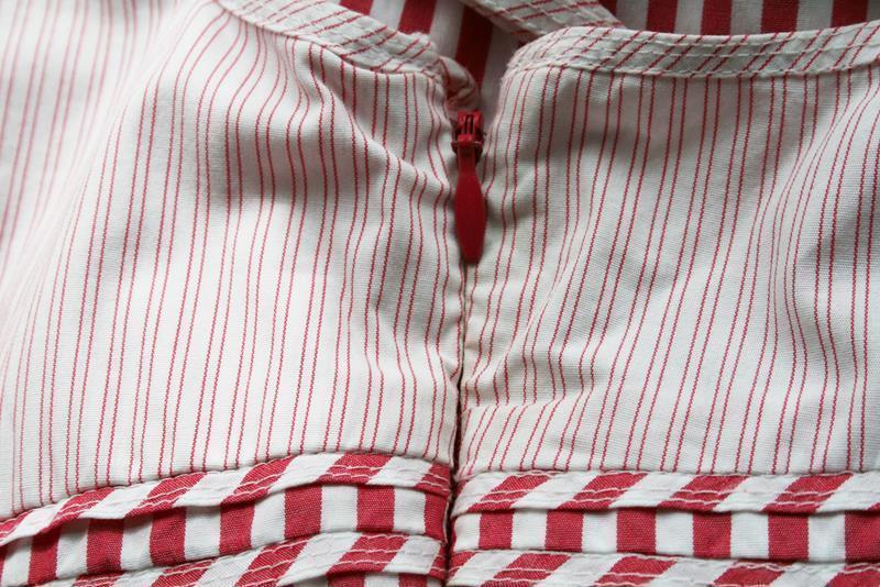 Tommy Hilfiger Pink White Striped Dress Sundress Size 4  #1858