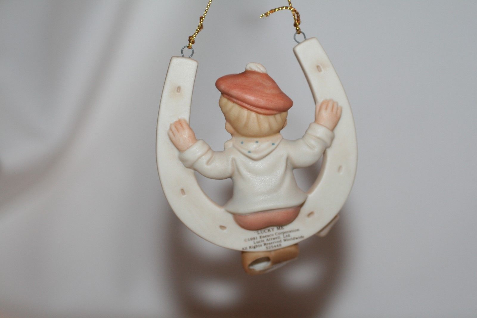 """Memories Of Yesterday Ornament 1991  """"Lucky Me""""  #525448 Mint in Box"""