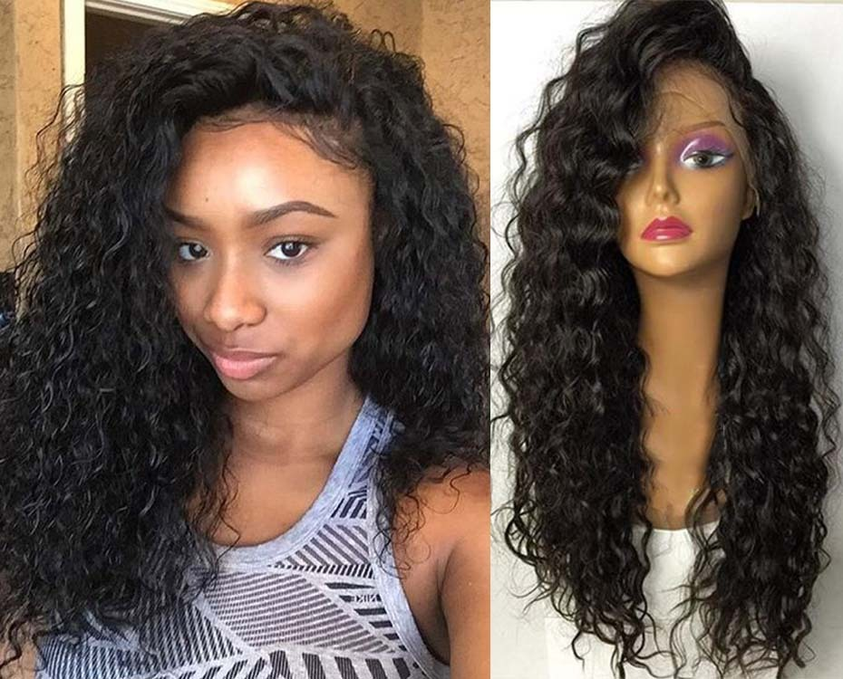 Human Hair Full Lace Lace Front Wigs With Baby Hair Indian