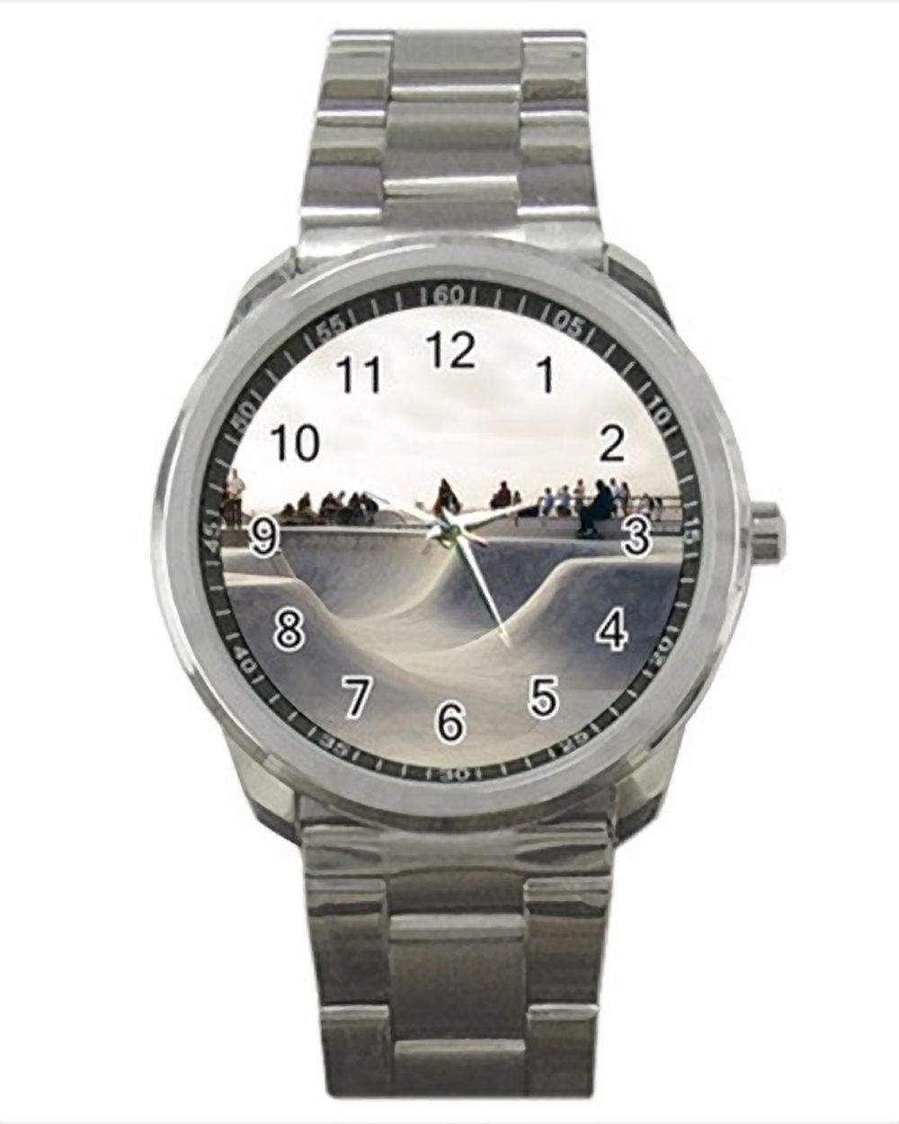 Skateboard Park Stainless Steel Watches