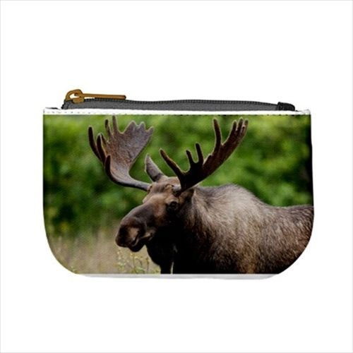 Canadian Moose Mini Coin Purse & Shoulder Clutch Handbag