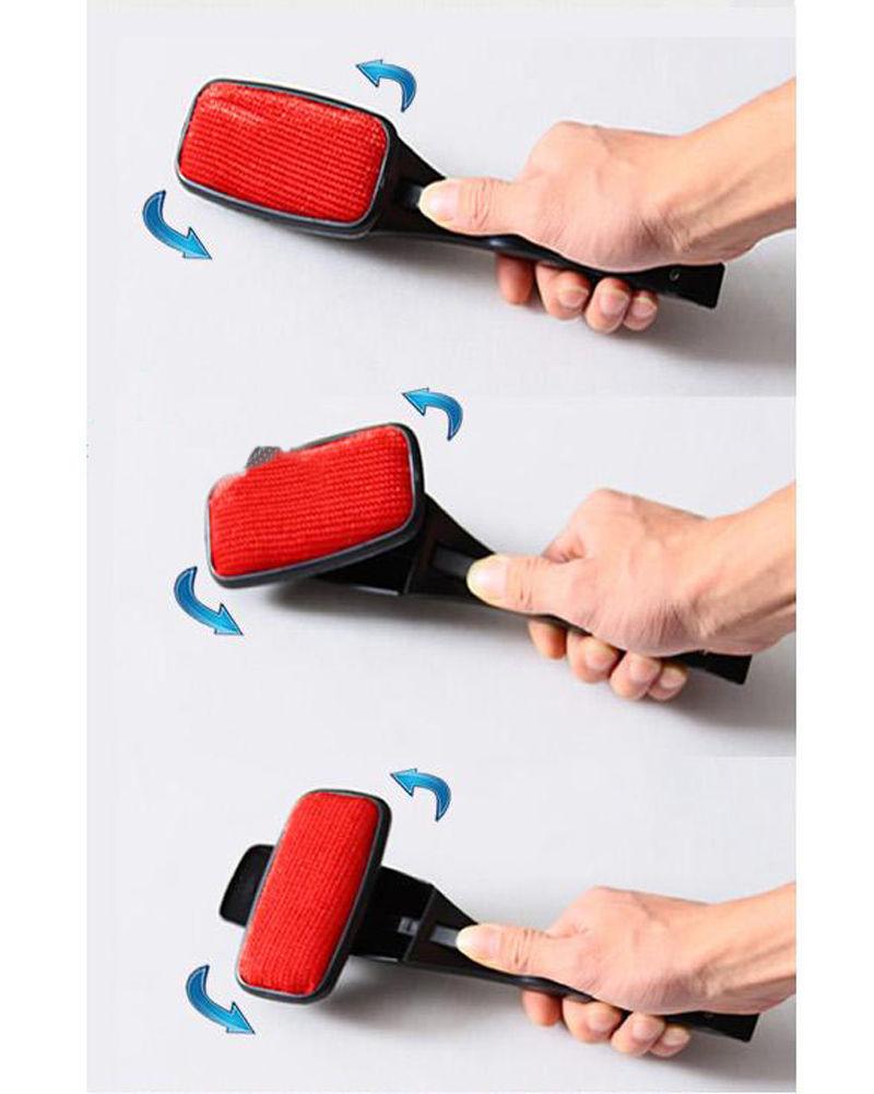 Dry Magic Dust Brush Pet Hair Static Swivel Portable Cleaning Brush Lint Remover