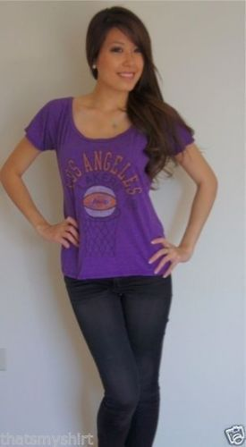 New Authentic Junk Food NBA Los Angeles Lakers Off The Shoulder Ladies T-Shirt