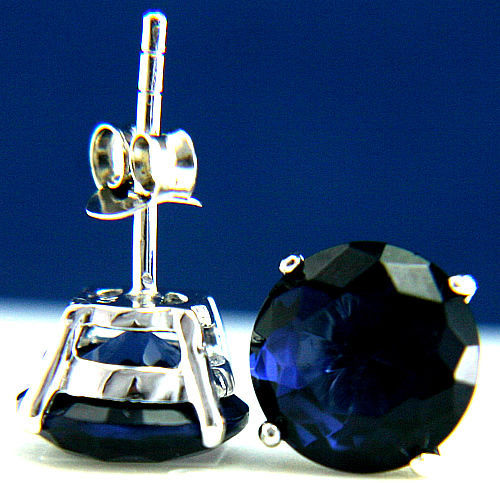 New 925 Sterling Silver Fashion Womens Tanzanite Round 1.43 CT CZ Stud Earrings