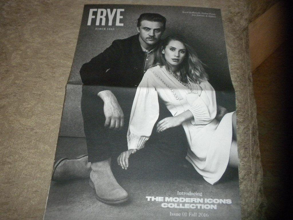 Frye Fashion Catalog w Dylan Penn; Jon Baptiste; Halsey Fall 2016 16 pgs NF