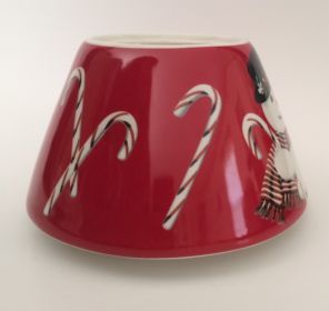 Snowman Candy Cane Candle Lamp Shade Topper