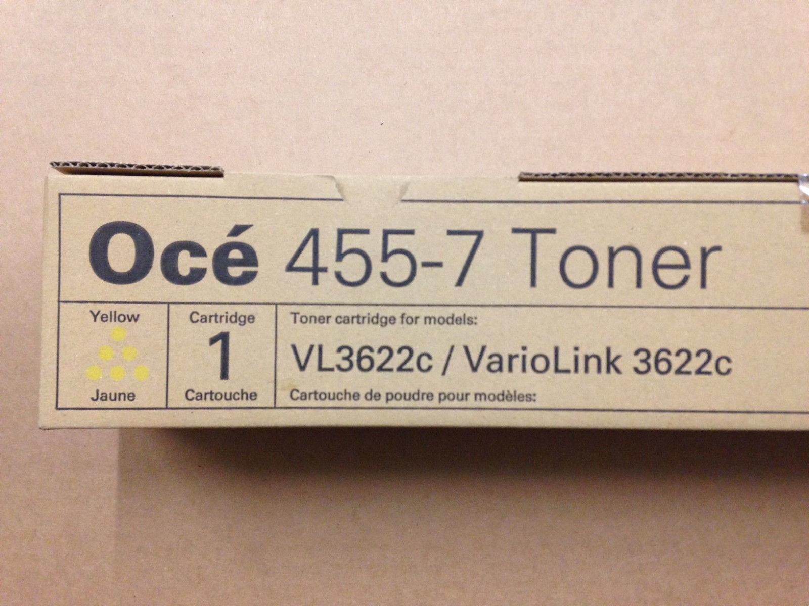 Genuine Oce 455-7 Yellow Toner for VarioLink 3622c - Same Day Shipping