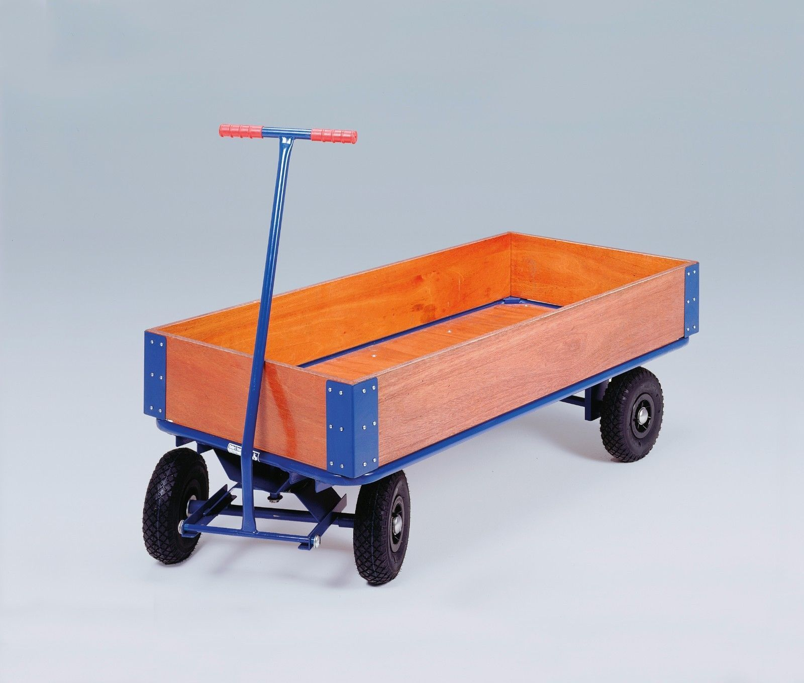 Turntable Platform Trucks - Lightweight Timber Sides, Pneumatic Tyres