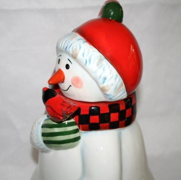 """PFALTZGRAFF Camp Jingles 14"""" Snowman Cookie Jar  #943"""