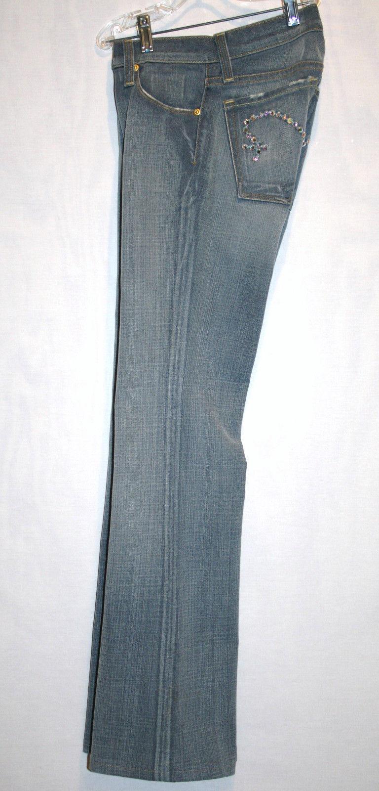 LIVE LIFE KRISTOFI 101 Boot Cut Aurora Boreallis Crystal Jeans Size 25   #632