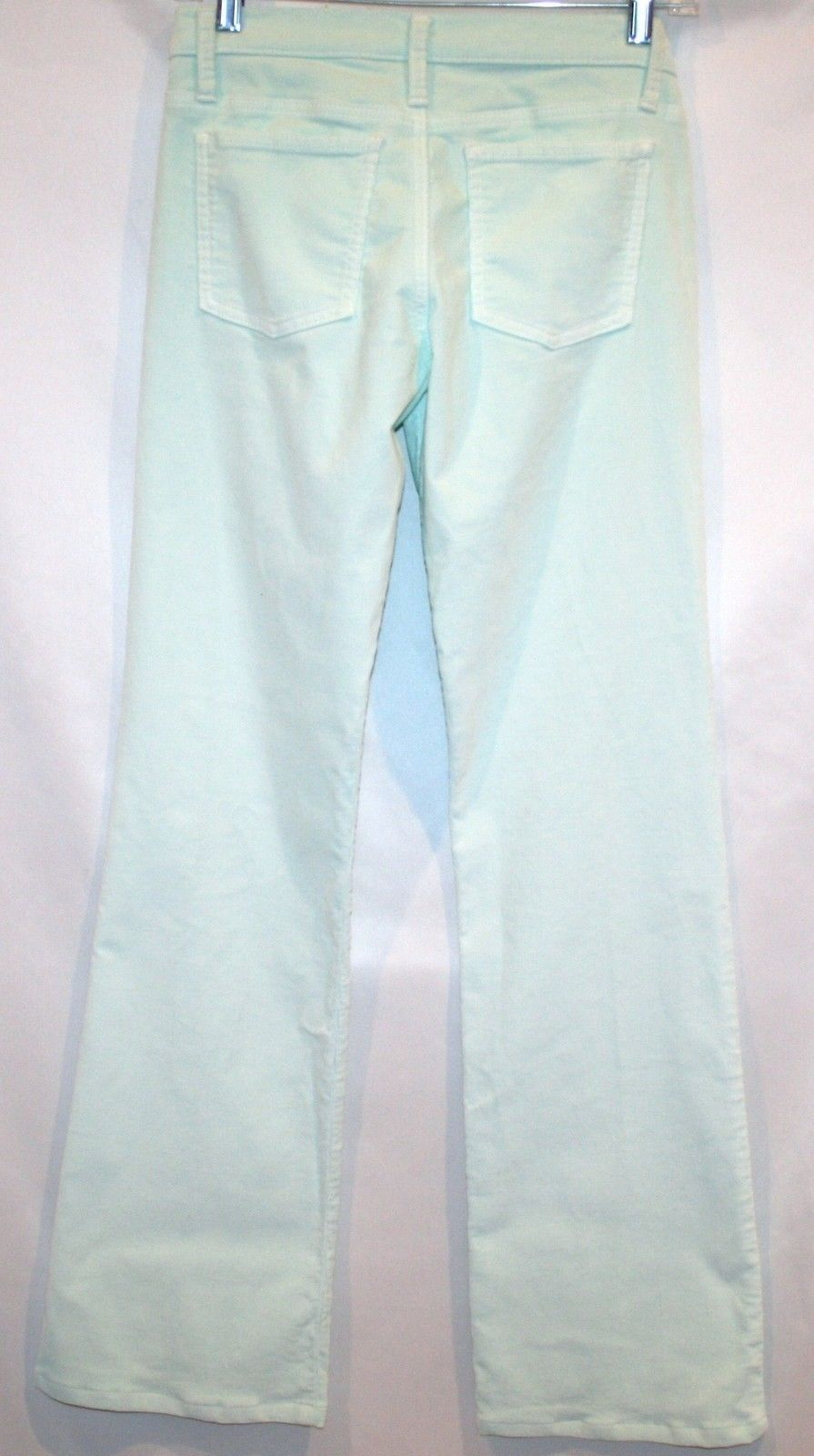 DEAD SEXY Stretch Corduroy Light Mint Pool 5 Pocket Boot Cut Pant Size 26