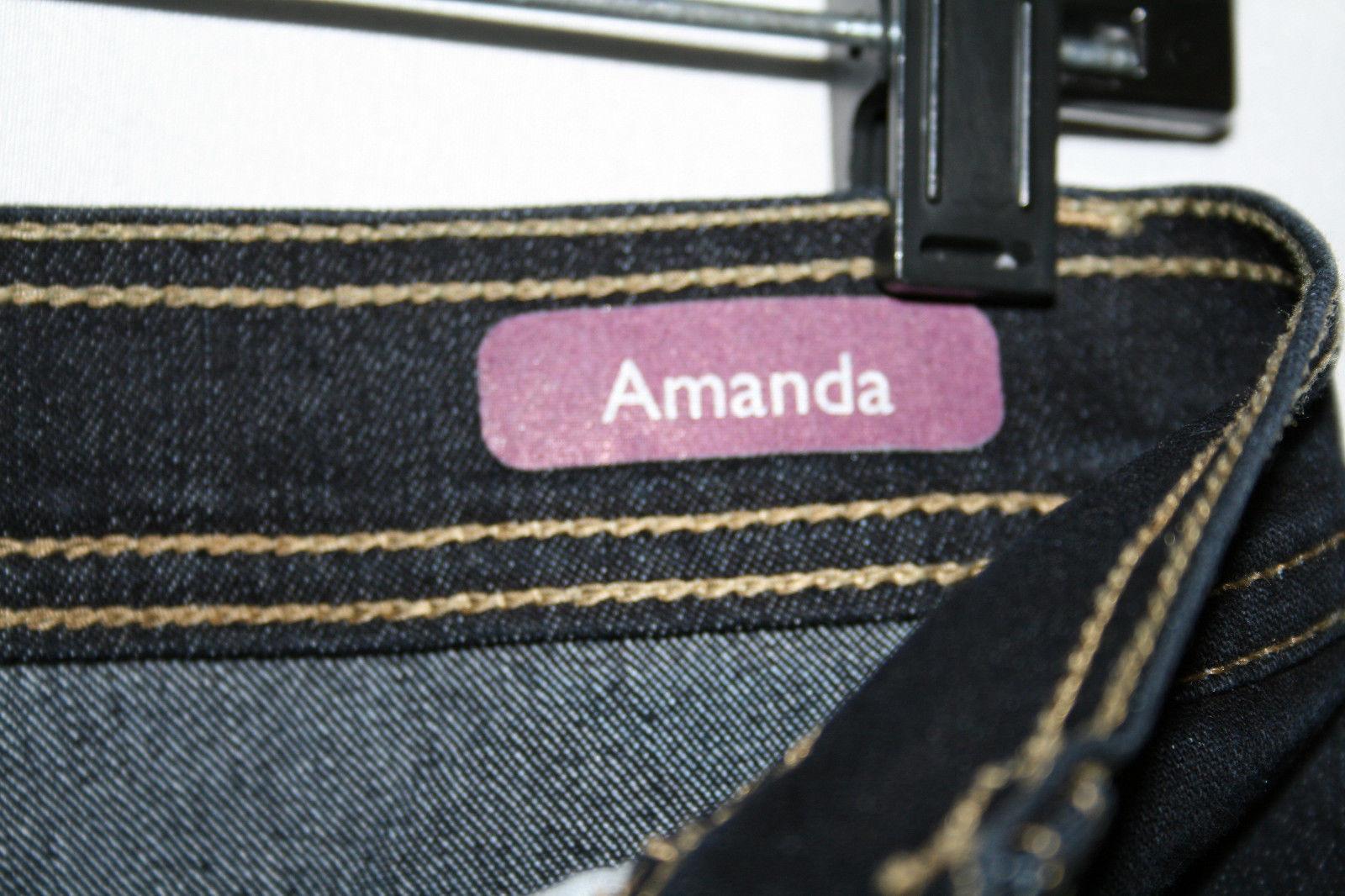 GLORIA VANDERBILT Amanda Dark Blue Denim Stretch Jeans SZ 8 Average  D93