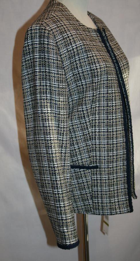 ALFRED DUNNER Navy Yellow Victoria Falls  Jacket Sz 14 NWT  #633