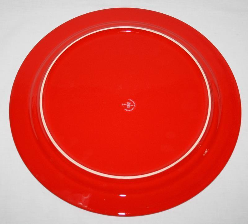 """Waechtersbach Germany Red Christmas Tree 12"""" Service Charger Plate Platter #1904"""