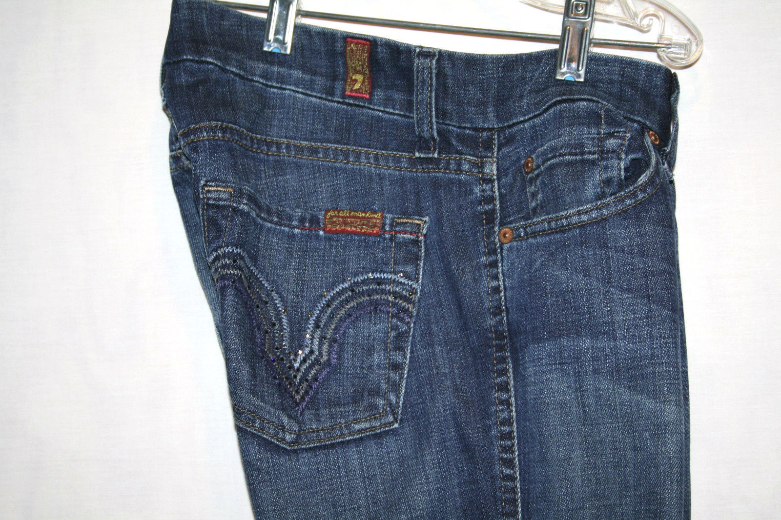 7 FOR ALL MANKIND Low Rise Slim Stretch KATE 5 pkt Jeans Size 26    #629