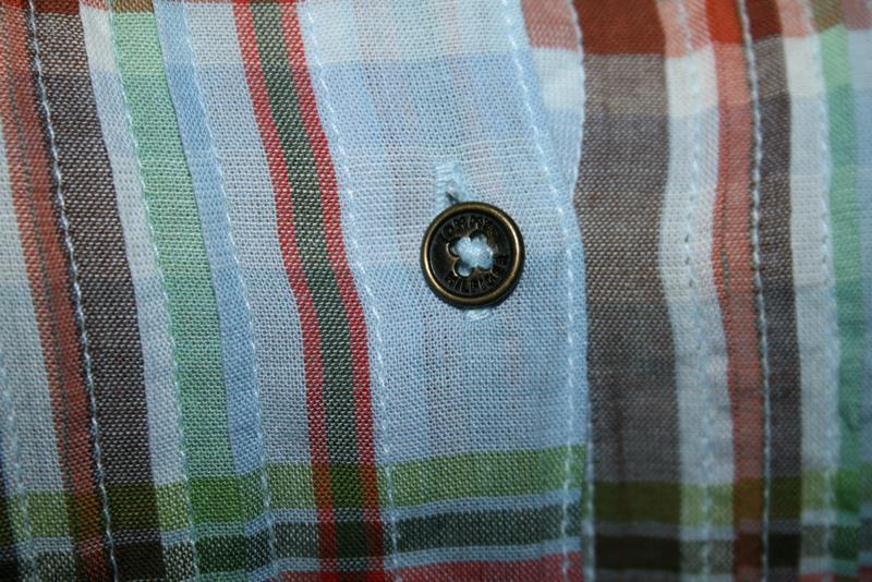 Tommy Hilfiger Plaid Cotton Button Pintuck Pleat Front Shirt Size 4 -NOWT- #2021
