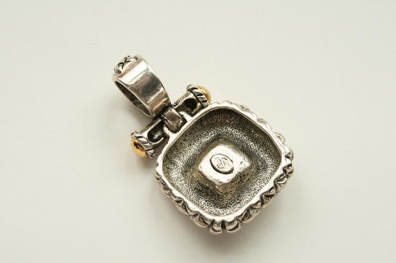 Premier Designs Alabaster Silver Gold Moonstone Pendant  J181