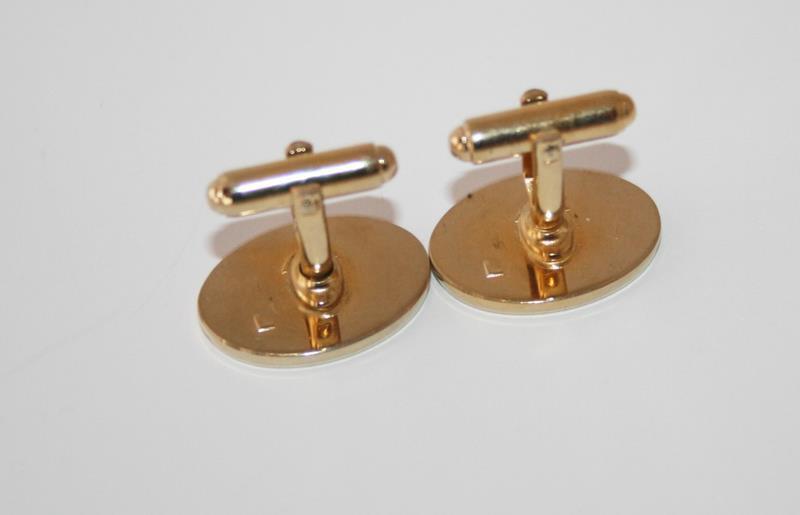 Vintage Anson Gold Tone Happy Sad Face Cufflinks & Tie Clip Set  J245GS