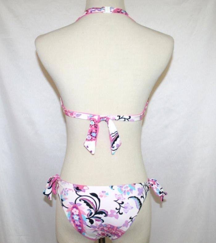 ROBERTO CAVALLI Freedom Logo Swimsuit Bikini + Skirt Cover  Size 44 S/M  NWOT