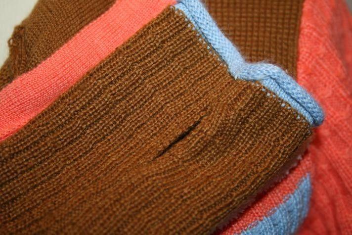 OBERMEYER Peach Cream Fleece Trim Wool Ski Sweater Hoodie Medium      1151