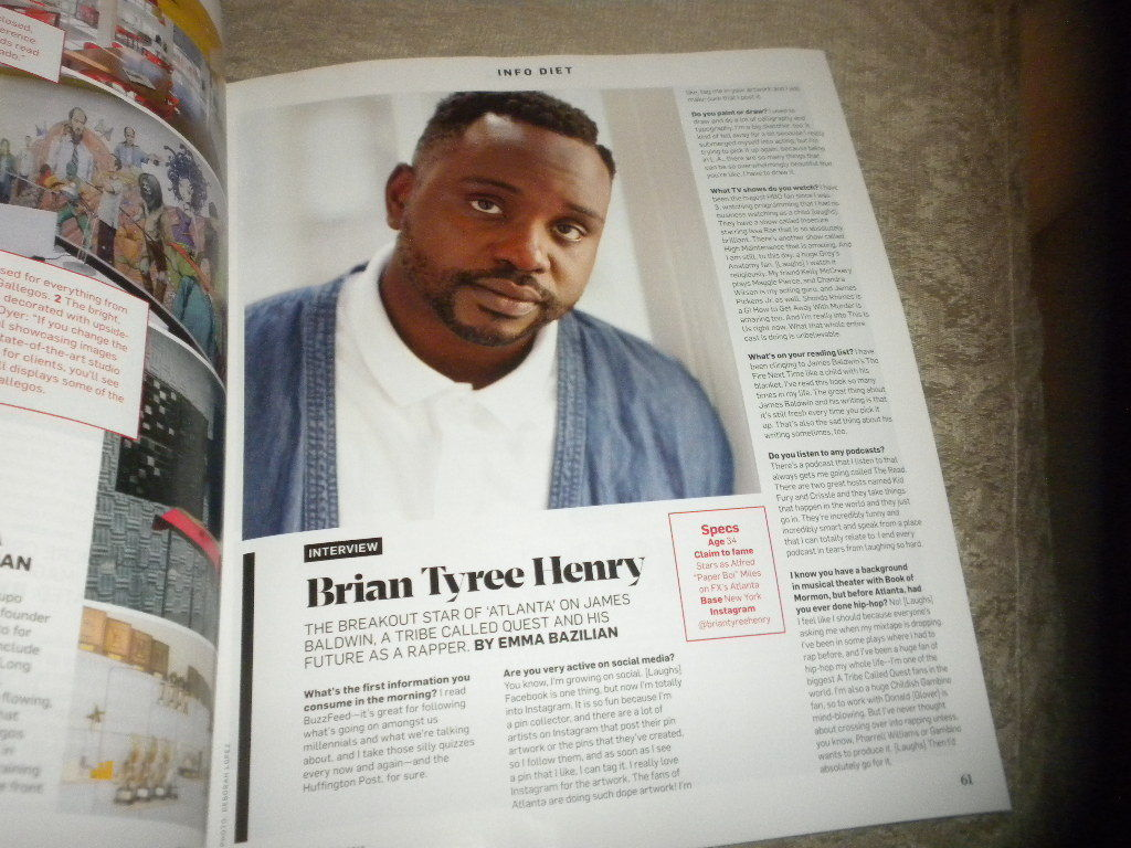 Adweek Magazine Megyn Kelly; TV/Print/Digtal Hot List; Brian Tyree Henry 2016 NF