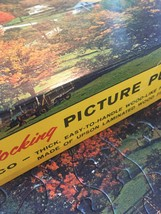 "Vintage 50s Tuco Interlocking Picture Puzzle- #5980B ""Indian Summer""  image 3"