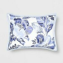 Floral Print Tufted Pillow Sham Blue - Opalhouse Standard 1 Sham  STORE NEW!