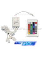 24 Key 16 Color IR Remote Control Controller SMD RGB LED Strip 12V 4-Hea... - $13.95
