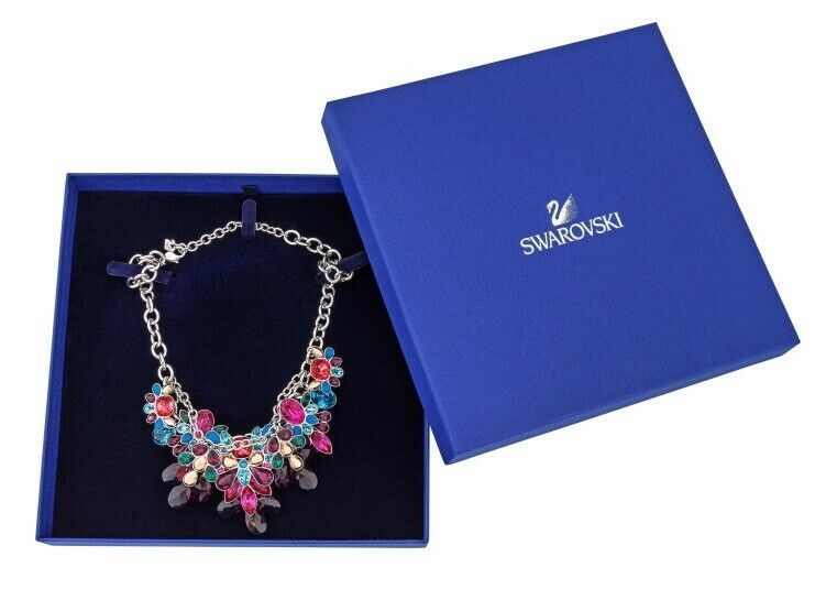 AUTHENTIC SWAN SIGNED SWAROVSKI CARDINAL LARGE NECKLACE 5113430 NIB RARE